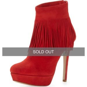 Charles David Shoes - Charles David Fringe Trim Suede Bootie